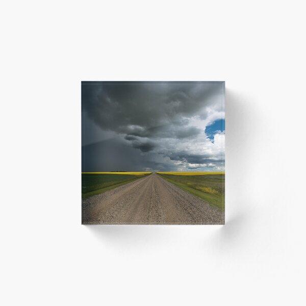 Prairie Summer Road Acrylic Block