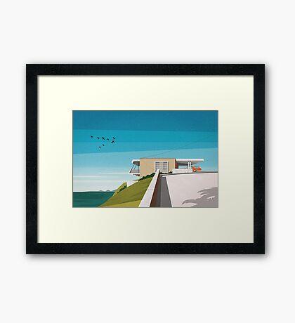 'Spencer House' (1955) Mid century house Framed Print