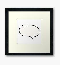comic book speech bubble cartoon Framed Print