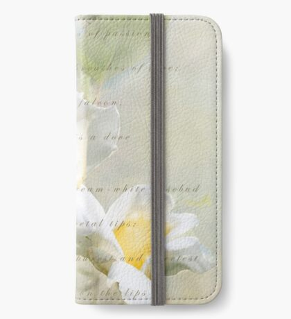 A White Rose iPhone Wallet