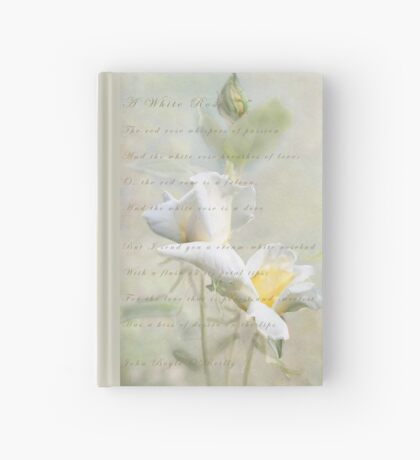 A White Rose Hardcover Journal