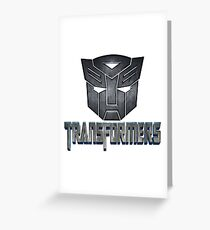 transformers Greeting Card