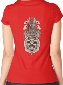 Anubis. T-shirt femme moulant à col profond