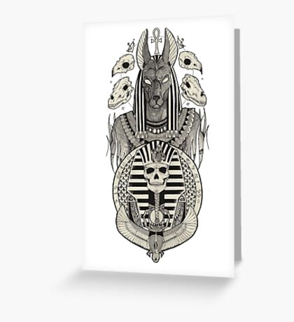 Anubis. Greeting Card