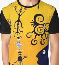 This is a yellow-blue dream Grafik T-Shirt