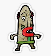 cartoon cannibal shaman Sticker