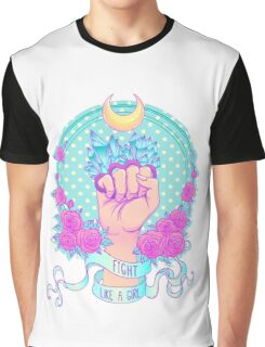 Fight Like A Girl T-shirt Graphique