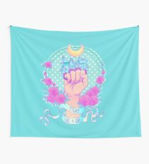 Fight Like A Girl Wall Tapestry