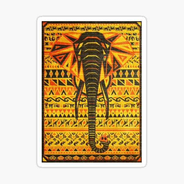 Africa Poster - The Sounds of Africa - Elephant Sticker