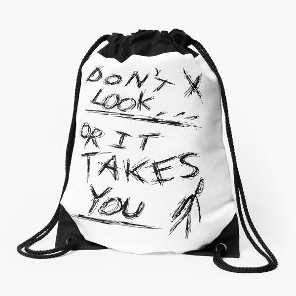 Don't Look - Slenderman Page  Drawstring Bag