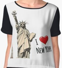 New York, New York  Chiffon Top