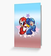 Rockman & Protoman | Please Like and Share :) Greeting Card