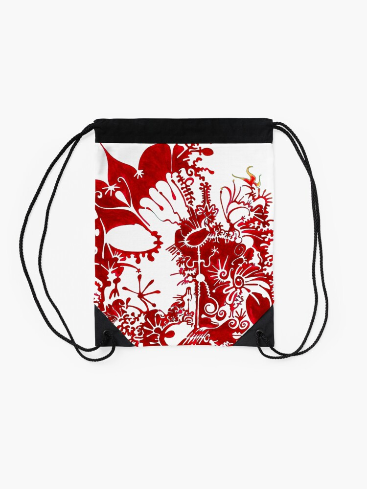 Alternate view of This is a red dream Drawstring Bag