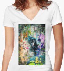 Artistic OI - Albert Einstein II Women's Fitted V-Neck T-Shirt