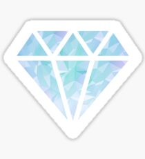 Blue Diamond Shape Sticker