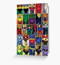 Superhero ABC's Poster Greeting Card