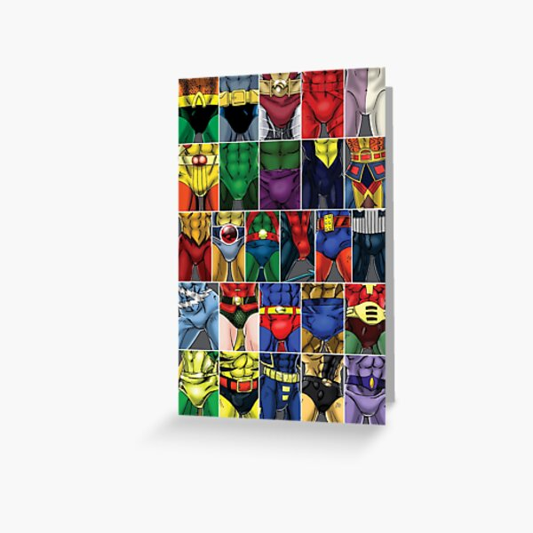 Superhero ABC's Poster Greeting Card