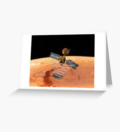Mars Aufklärer Orbiter Grußkarte
