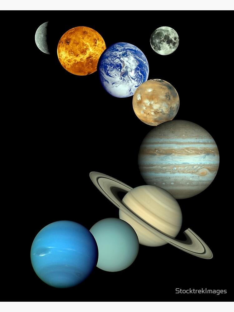 Sonnensystem-Montage von StocktrekImages