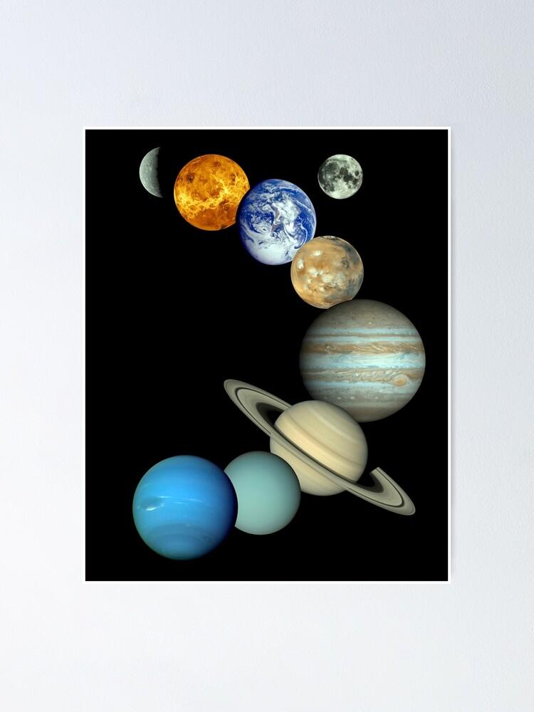Alternative Ansicht von Sonnensystem-Montage Poster