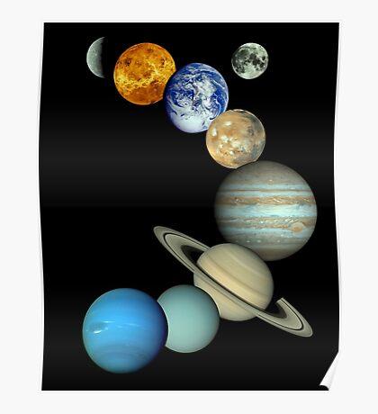 Sonnensystem-Montage Poster