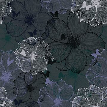 Secret Flowers - Floral Pattern by daniteal