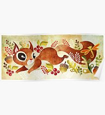 Playful Squirrel Poster