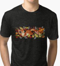 Playful Squirrel Tri-blend T-Shirt