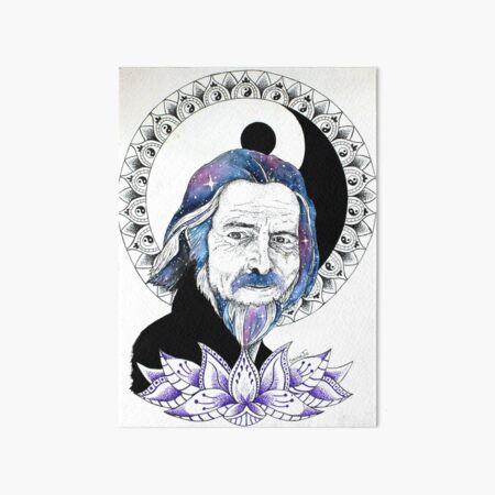 Alan Watts Art Board Print