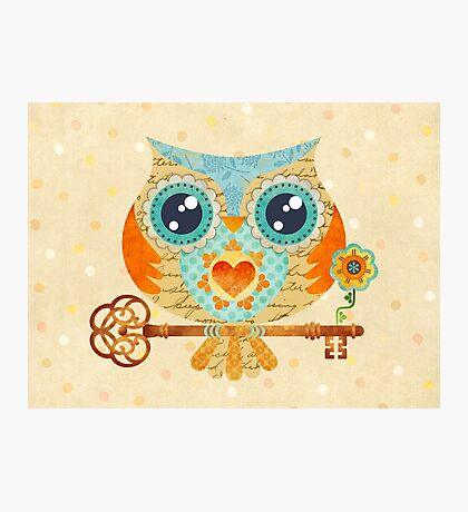 Owl's Summer Love Letters Photographic Print