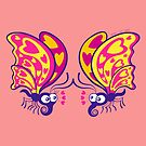 Couple of beautiful butterflies madly falling in love by Zoo-co