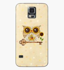 Owl's Autumn Song Case/Skin for Samsung Galaxy