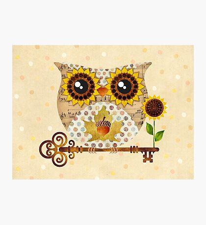 Owl's Autumn Song Photographic Print