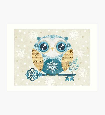 Winter Wonderland Owl Art Print
