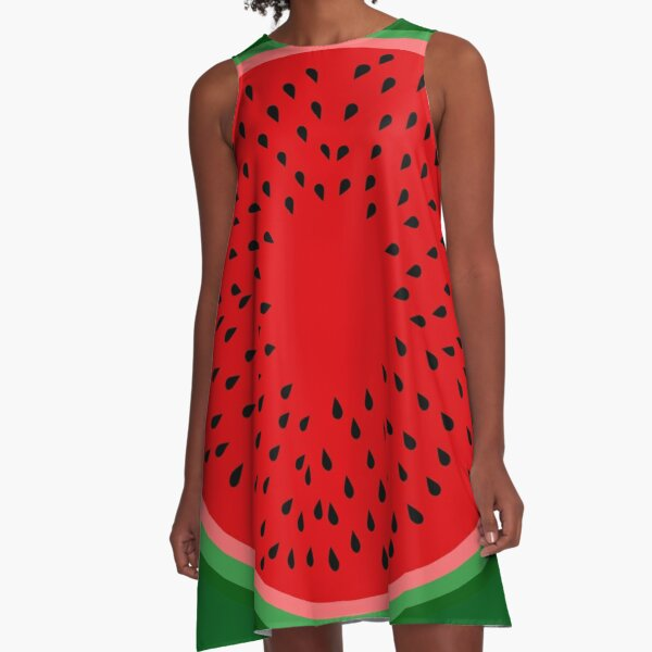 Watermelon  A-Line Dress