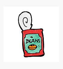 canned food cartoon Photographic Print
