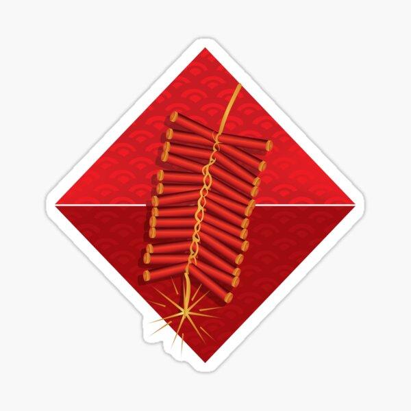 Firecrackers Vietnamese Lunar New Year Phao Tet Holiday Sticker