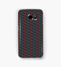 Playstation Buttons - Coloured on Black Samsung Galaxy Case/Skin