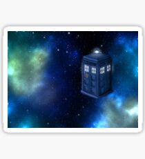 A Life Among The Distant Stars Horizontal- Doctor Who, Tardis,  Sticker