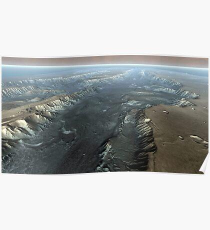 Valles Marineris, der Grand Canyon des Mars. Poster
