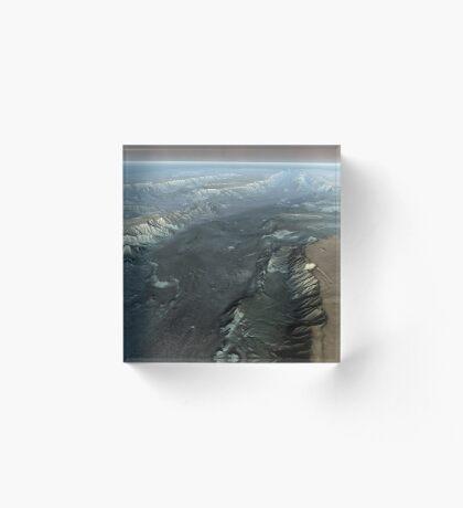 Valles Marineris, der Grand Canyon des Mars. Acrylblock