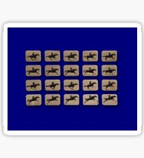 Eadweard Muybridge – 1830-1904 – Locomotion Theory – Horse and Jump – Blue Sticker