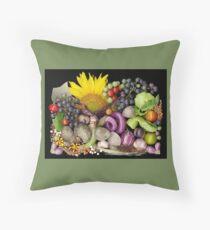 Dudley Farm Harvest Mosaic Throw Pillow