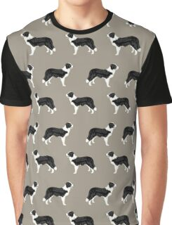 Border Collie dog pattern pet friendly dog art dog lover gifts with favorite dog breeds by PetFriendly Graphic T-Shirt