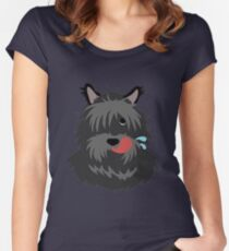 shaggy dog Women's Fitted Scoop T-Shirt