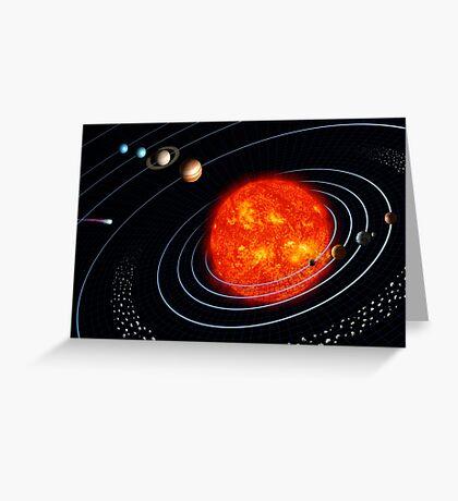 Sonnensystem Grußkarte