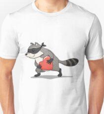 Raccoon thief with a stolen heart Unisex T-Shirt