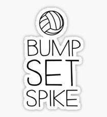 Volleyball. Bump. Set. Spike Sticker