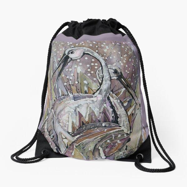 IBISES, The Love dance of Ibises Drawstring Bag