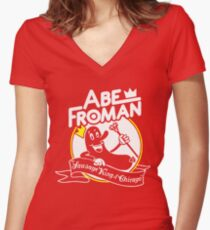 Abe Froman Sausage King T-shirt Women's Fitted V-Neck T-Shirt